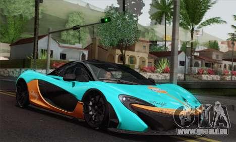 McLaren P1 HQ pour GTA San Andreas vue de dessus