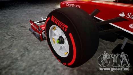 Ferrari F138 v2.0 [RIV] Alonso TSSD für GTA 4 Rückansicht
