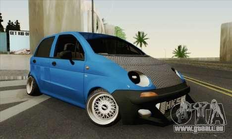Daewoo Matiz Tuned pour GTA San Andreas
