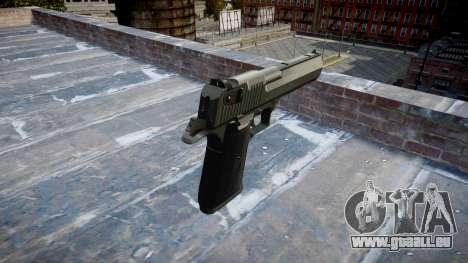 Pistole IMI Desert Eagle Mk XIX Schwarz für GTA 4 Sekunden Bildschirm