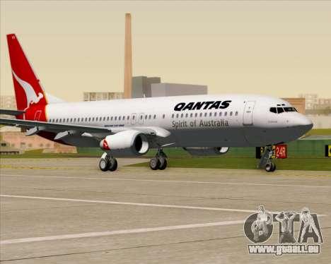 Boeing 737-838 Qantas (Old Colors) pour GTA San Andreas vue de côté