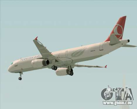 Airbus A321-200 Turkish Airlines für GTA San Andreas obere Ansicht