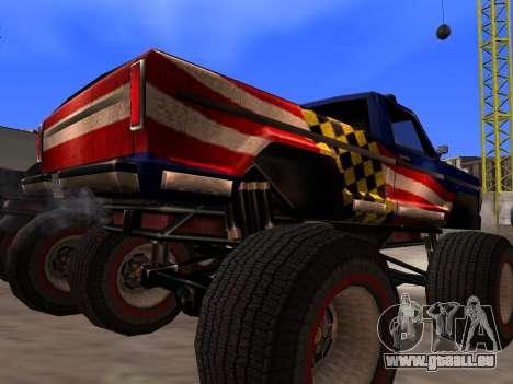 De nouvelles textures Monstre pour GTA San Andre pour GTA San Andreas vue arrière