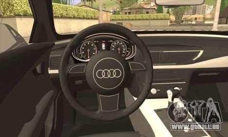 Audi A7 pour GTA San Andreas sur la vue arrière gauche