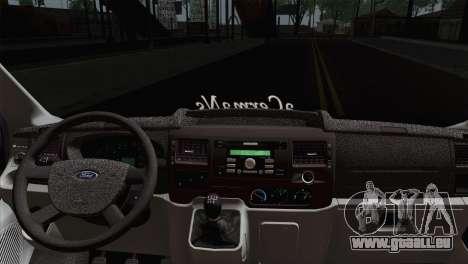 Ford Transit ACERMANS RC pour GTA San Andreas sur la vue arrière gauche