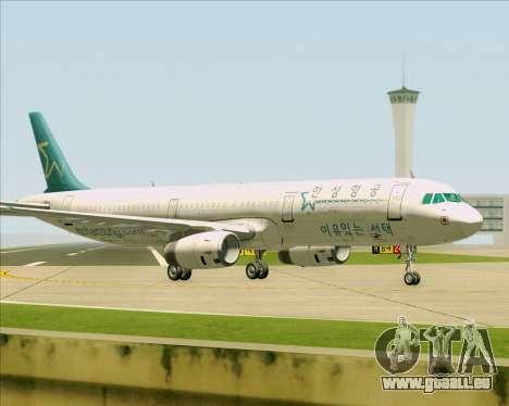 Airbus A321-200 Hansung Airlines für GTA San Andreas Unteransicht