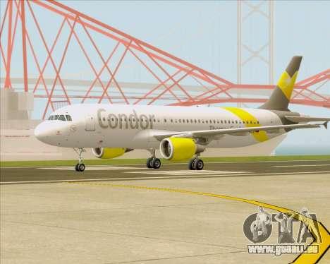Airbus A320-212 Condor pour GTA San Andreas vue intérieure
