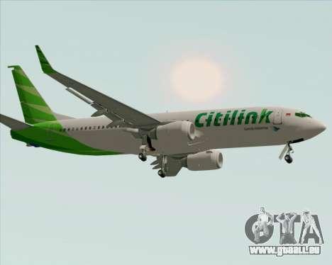 Boeing 737-800 Citilink pour GTA San Andreas laissé vue