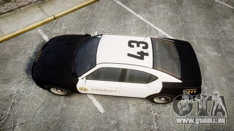 GTA V Bravado Buffalo LS Sheriff Black [ELS] Sli für GTA 4 rechte Ansicht