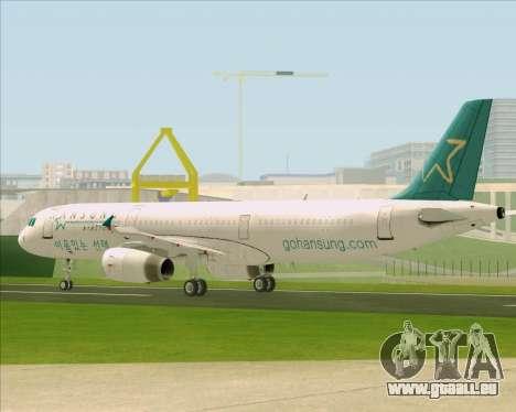 Airbus A321-200 Hansung Airlines für GTA San Andreas Seitenansicht