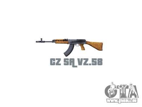 Machine CZ SA Vz.58 icon3 pour GTA 4 troisième écran