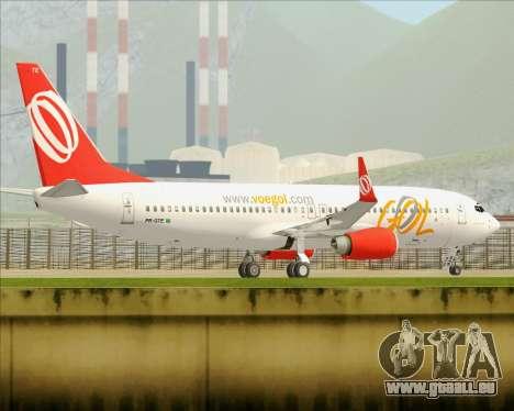Boeing 737-800 Gol Transportes Aéreos pour GTA San Andreas vue de dessous