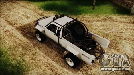 Karin Rebel 4x4 pour GTA San Andreas sur la vue arrière gauche