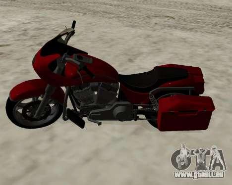 Bagger pour GTA San Andreas vue arrière
