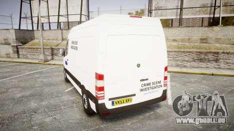 Mercedes-Benz Sprinter 311 cdi London Police für GTA 4 hinten links Ansicht