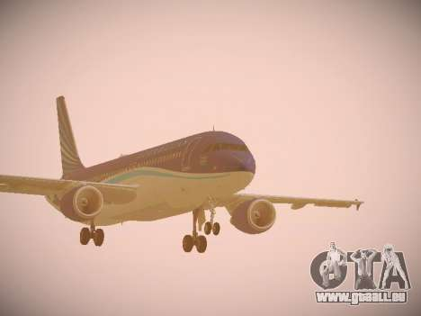 Airbus A320-214 Azerbaijan Airlines AZAL pour GTA San Andreas laissé vue