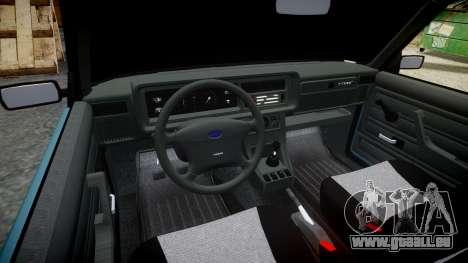 AIDE-2107 hobo pour GTA 4 est une vue de l'intérieur