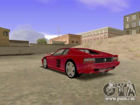 Ferrari 512TR für GTA San Andreas linke Ansicht