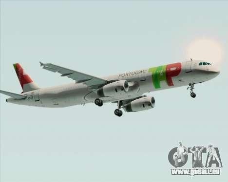 Airbus A321-200 TAP Portugal pour GTA San Andreas vue de côté
