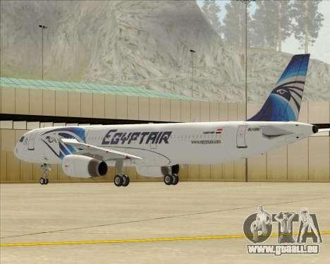 Airbus A321-200 EgyptAir für GTA San Andreas Räder