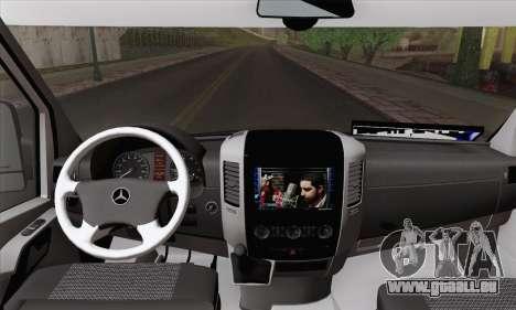 Mercedes-Benz Sprinter Etiket Kamyonet für GTA San Andreas zurück linke Ansicht