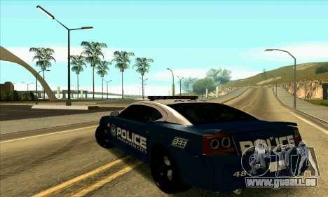 FCPD Dodge Charger SRT8 pour GTA San Andreas laissé vue