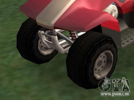 Mis à jour le Quad pour GTA San Andreas sur la vue arrière gauche