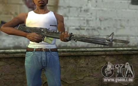 M60 from Battlefield: Vietnam pour GTA San Andreas troisième écran