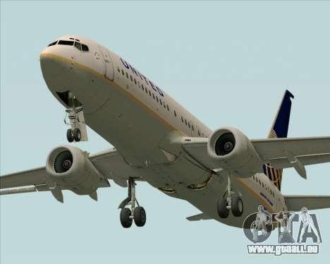Boeing 737-824 United Airlines für GTA San Andreas Seitenansicht