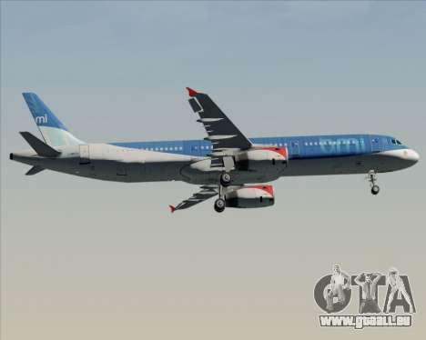 Airbus A321-200 British Midland International pour GTA San Andreas vue intérieure
