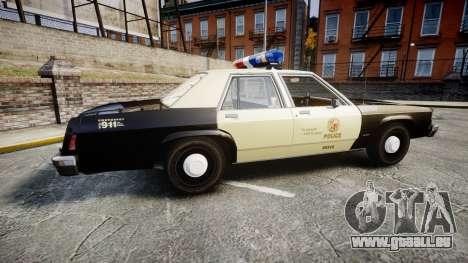 Ford LTD Crown Victoria 1987 LAPD [ELS] pour GTA 4 est une gauche