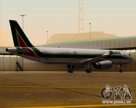 Airbus A321-200 Alitalia pour GTA San Andreas vue de dessous