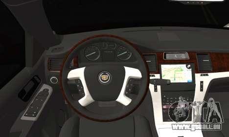 Cadillac Escalade ESV für GTA San Andreas zurück linke Ansicht