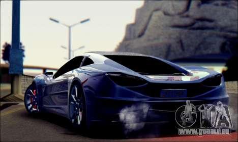 Shimmy Python 2012 für GTA San Andreas linke Ansicht