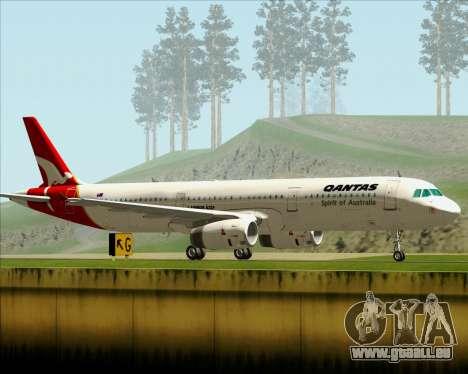 Airbus A321-200 Qantas für GTA San Andreas rechten Ansicht