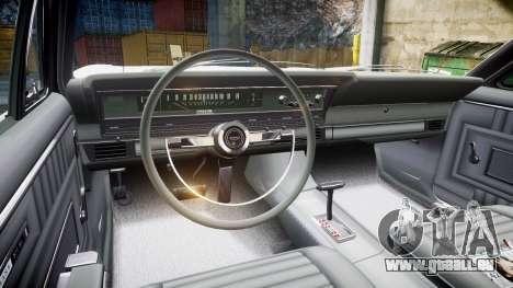Ford Fairlane 500 1966 pour GTA 4 Vue arrière