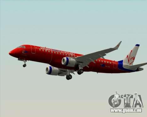 Embraer E-190 Virgin Blue für GTA San Andreas zurück linke Ansicht