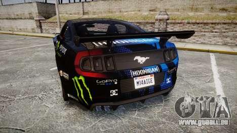 Ford Mustang GT 2014 Custom Kit PJ3 pour GTA 4 Vue arrière de la gauche