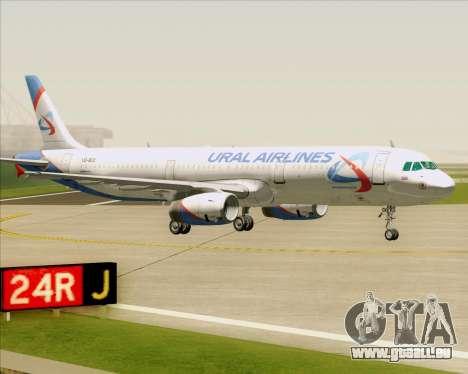 Airbus A321-200 Ural Airlines pour GTA San Andreas vue de dessous