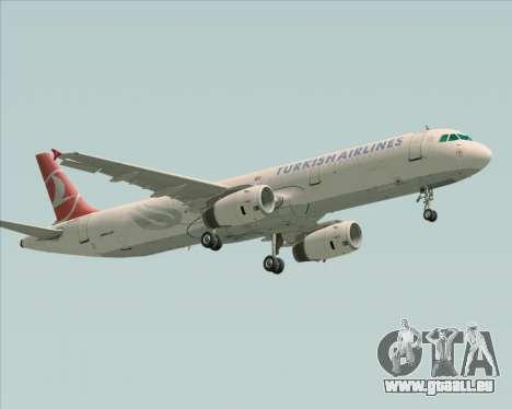 Airbus A321-200 Turkish Airlines für GTA San Andreas linke Ansicht