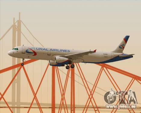 Airbus A321-200 Ural Airlines für GTA San Andreas obere Ansicht