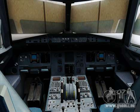Airbus A320-232 United Airlines für GTA San Andreas Innen