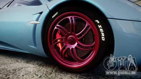 Pagani Huayra 2013 [RIV] für GTA 4 Rückansicht