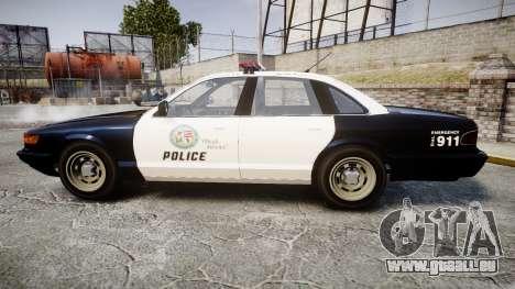 Vapid Police Cruiser GTA V LED [ELS] für GTA 4 linke Ansicht