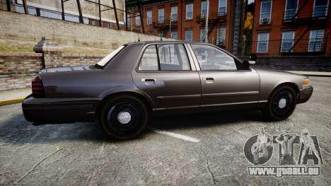 Ford Crown Victoria LASD [ELS] Unmarked pour GTA 4 est une gauche