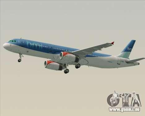Airbus A321-200 British Midland International pour GTA San Andreas roue