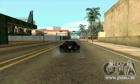 FCPD Chevrolet Corvette Z06 für GTA San Andreas linke Ansicht