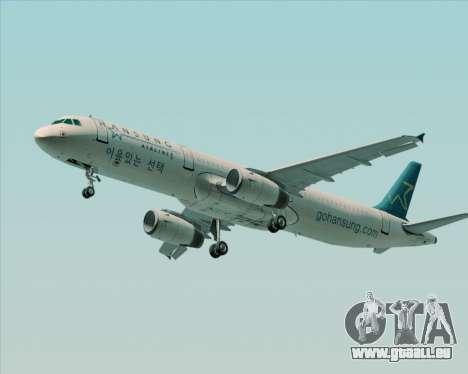 Airbus A321-200 Hansung Airlines für GTA San Andreas Motor