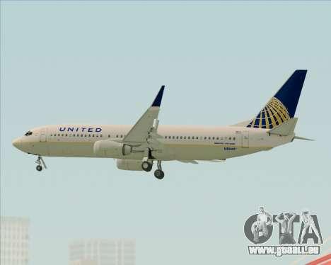 Boeing 737-824 United Airlines für GTA San Andreas obere Ansicht