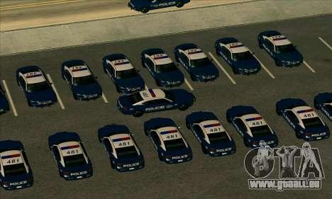 FCPD Dodge Charger SRT8 für GTA San Andreas zurück linke Ansicht